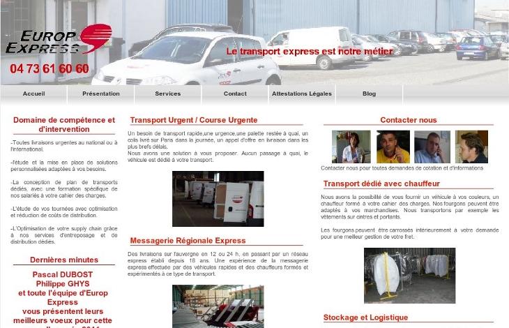 création du site europ express par inf auvergne