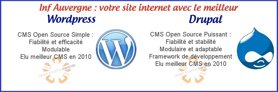 cms utilisés wordpress et drupal
