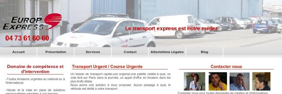 site europexpress cree par Inf Auvergne