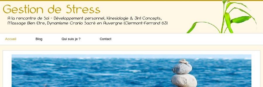 site gestion de stress cree par Inf Auvergne
