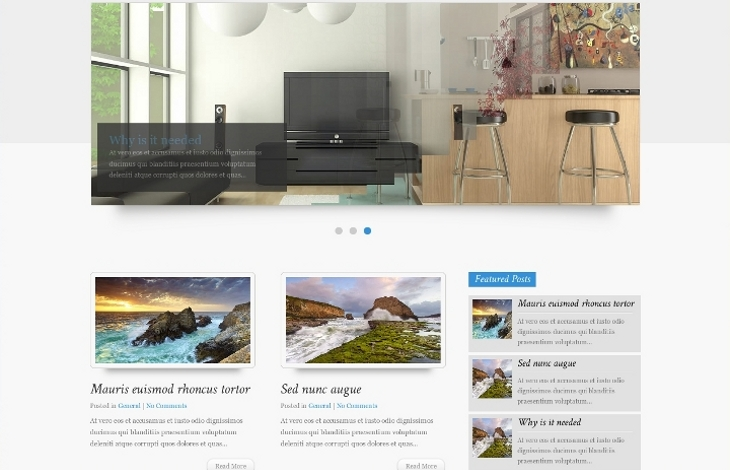 design wordpress proposé par Inf Auvergne