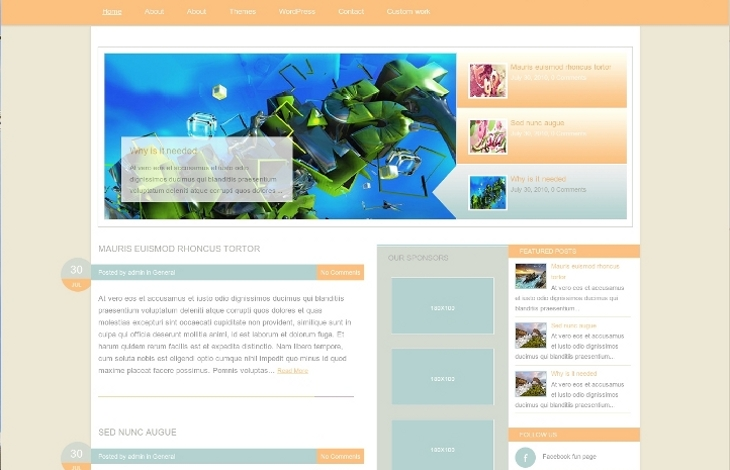 design3 wordpress proposé par Inf Auvergne